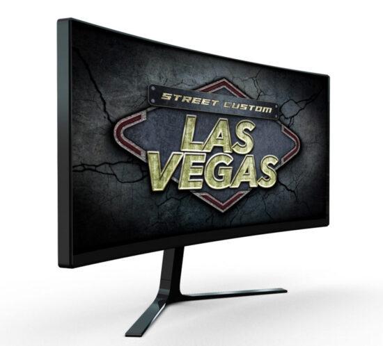 Monitor TV con sigla di apertura della serie TV Las Vegas Street Custom