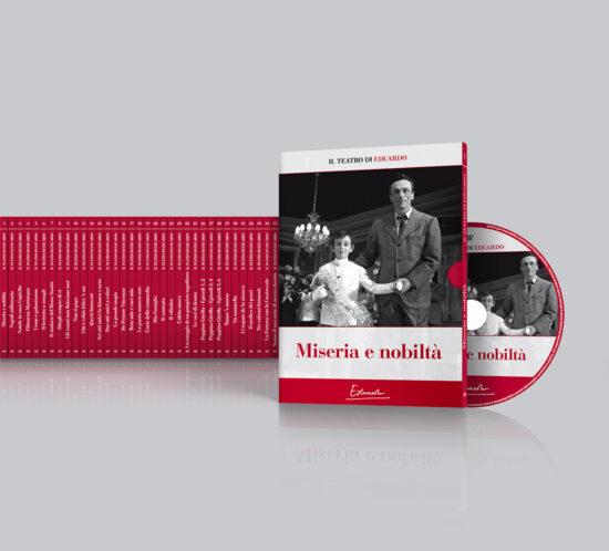 Il Teatro di Eduardo - packshot del packaging della collana DVD composta da 35 commedie opera intera Eduardo De Filippo