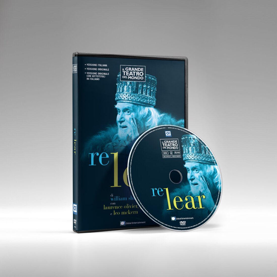Packshot con fascetta e label di Re Lear - Collana DVD Il Grande Teatro del mondo